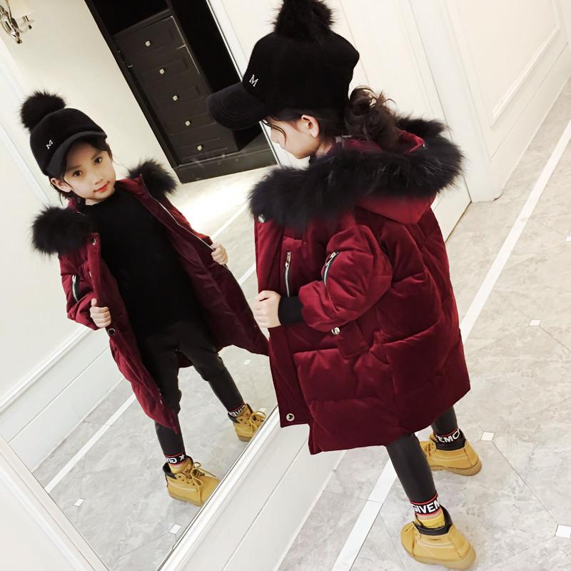 女童棉衣2017新款韩版冬季金丝绒棉袄中大童冬装外套儿童羽绒棉服