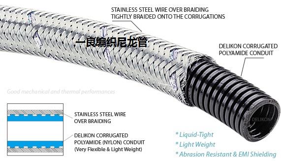 Alambre de acero inoxidable de ejercicio ligero, flexible de nylon trenzado de fuelles de robots industriales de automatización de equipos de cable