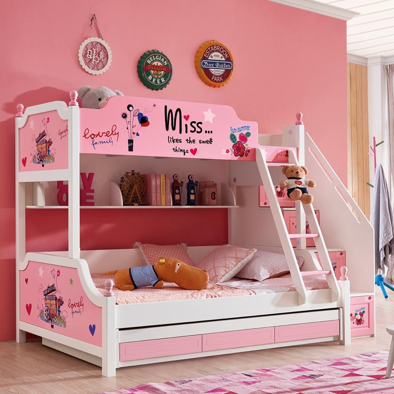 Kinder im Bett von Holz MIT Mädchen - prinzessin aus dem Bett MIT geländer Oder erwachsenen - Bett
