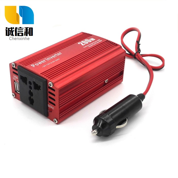 Inverter 12V to 220V multi function on-board 200W correction wave USB converter outdoor power supply