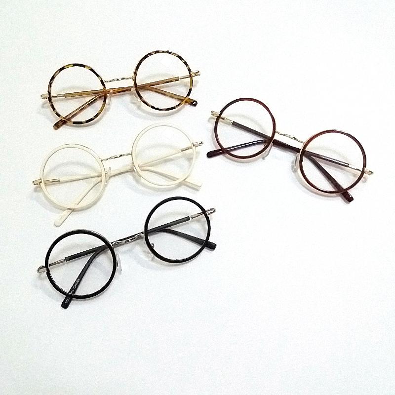 韩版儿童圆框太阳镜平光镜男童宝宝公主女孩可爱文艺范复古眼镜架