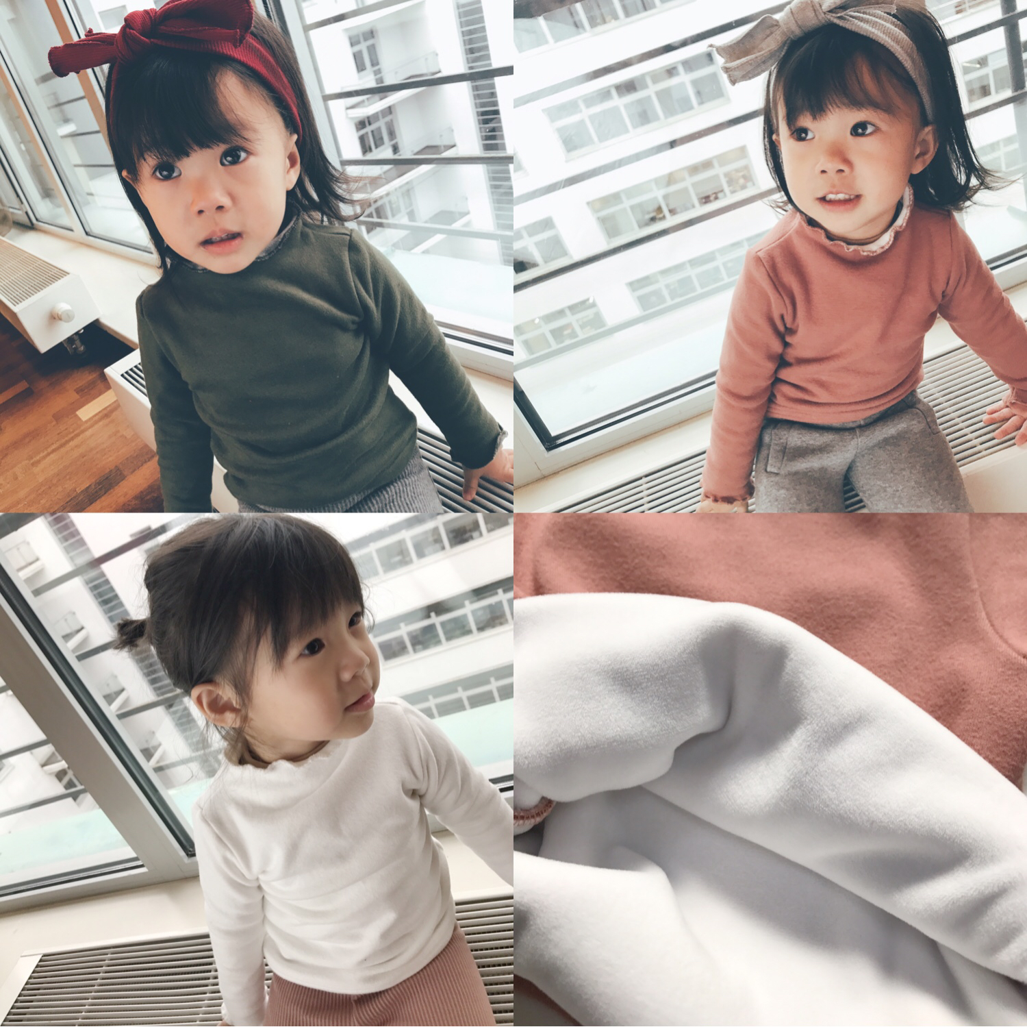 The history of pea girls plus velvet shirt autumn children thick long sleeved T-shirt agaric female baby warm coat