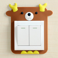 Switch socket can remove the sticker stickers stickers affixed silicone cute cartoon switch
