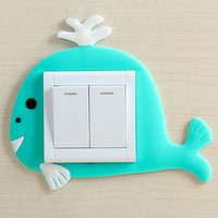 Protective sleeve switch, living room cartoon, lovely switch socket, sticker sticker, removable silicone sticker