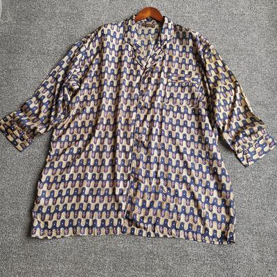 宽松版 2020年春夏季100%真丝砂洗电力纺长袖桑蚕丝上衣衬衫