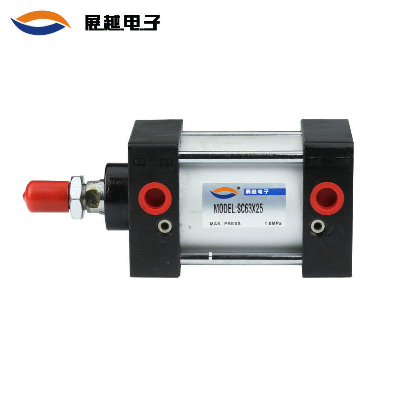 The exhibition SC SC63/25/50/75/100/125 standard pneumatic cylinder type adjustable parts.