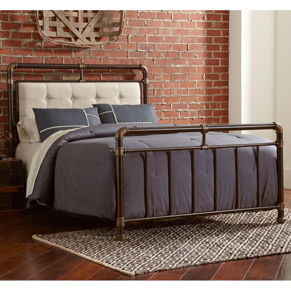 アメリカンカントリーロフト管工業風鉄製ベッド創意復古ペア鉄ベッドの枠のファッション寝室のベッド