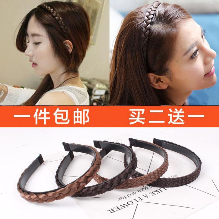 Shipping twist braided wigs Korean jewelry hoop slip belt tooth head hoop pressure bangs hair headdress hairpin
