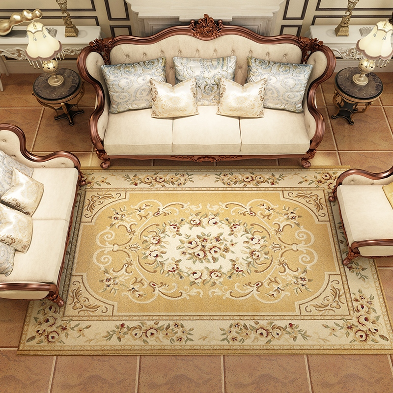 2017 European fashion bedroom living room coffee table carpet bed blanket tatami mats household real shipping new