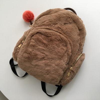 老鼠货 女生毛茸茸双肩背包  很可爱哦!包邮原单