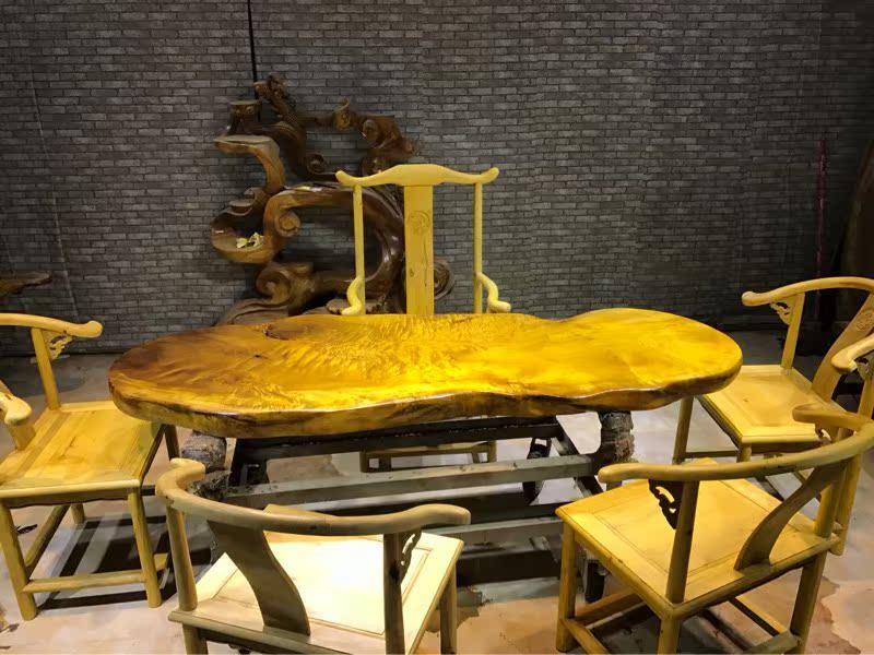 Table de bureau de la Conférence et le bois de rondins de bonus de noix de dalles Nan Ba des ailes de poulet à thé de racine de patron