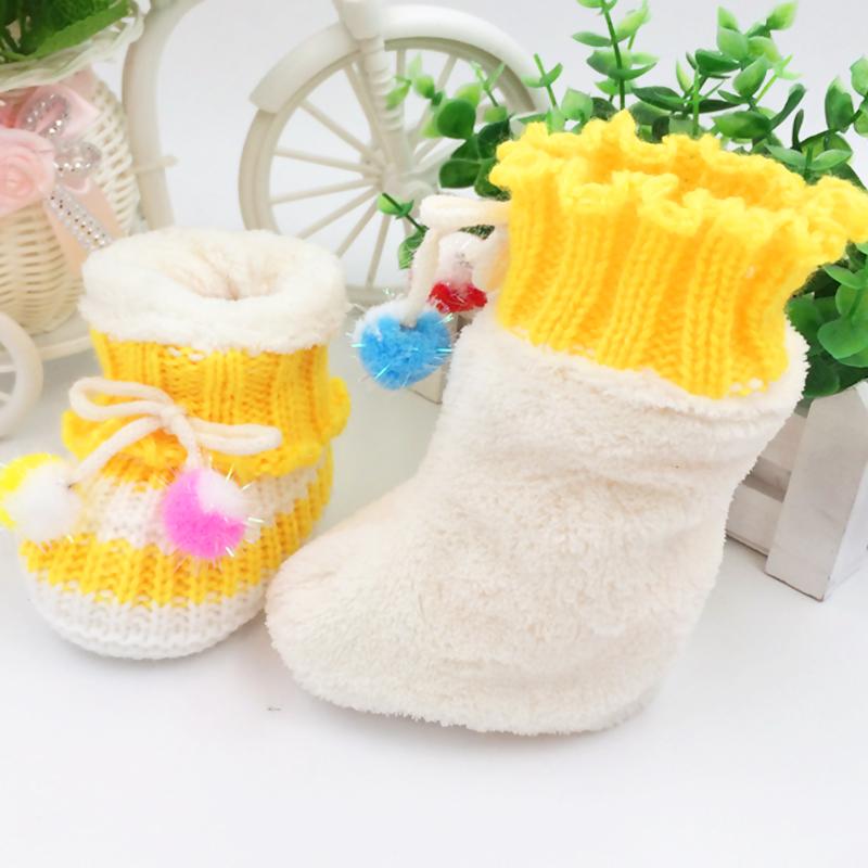 纯手工针织手钩婴儿鞋 春秋冬季男女宝宝毛线鞋子小娃编织软底鞋