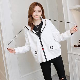 休闲风衣外套2017春秋装新款韩版矮小个子女加绒学生宽松短款上衣