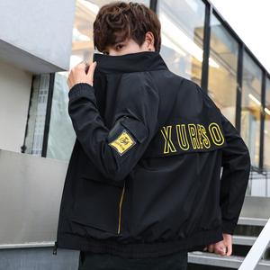 祖玛珑2019春季男士夹克青少年款修身韩版春季时尚休闲外套学生装