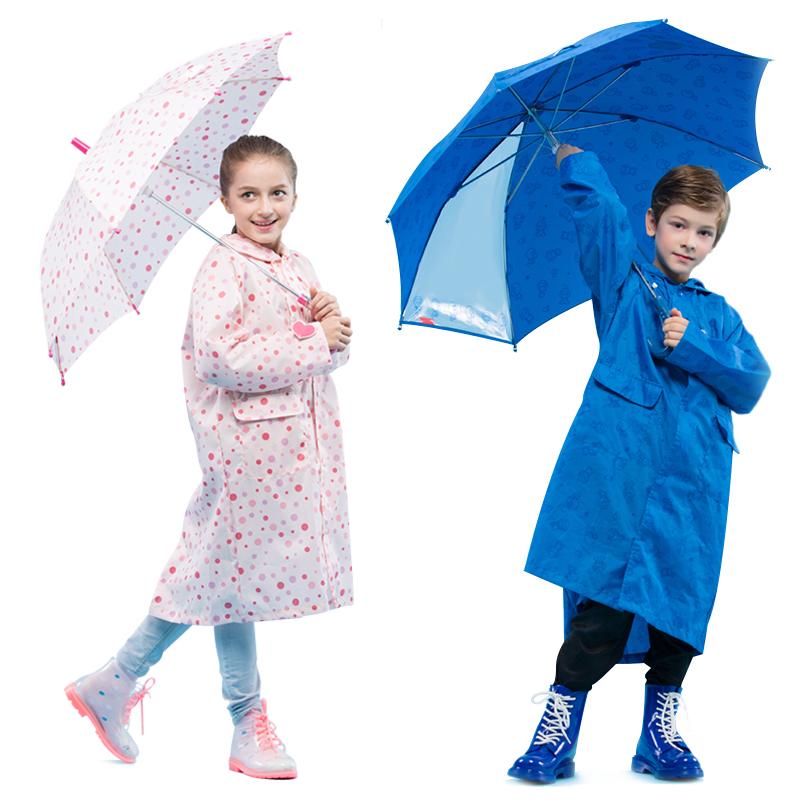 儿童雨伞男女宝宝小孩男童女童女孩款全自动透明超轻幼儿园小学生
