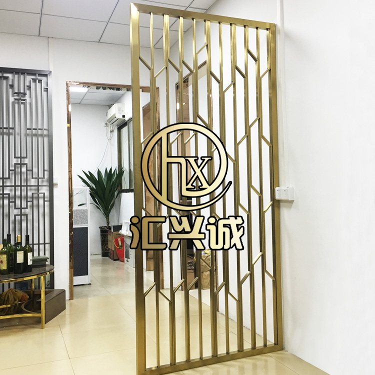 Stainless steel screen partition, metal screen partition decoration, Chinese stainless steel screen partition professional customization