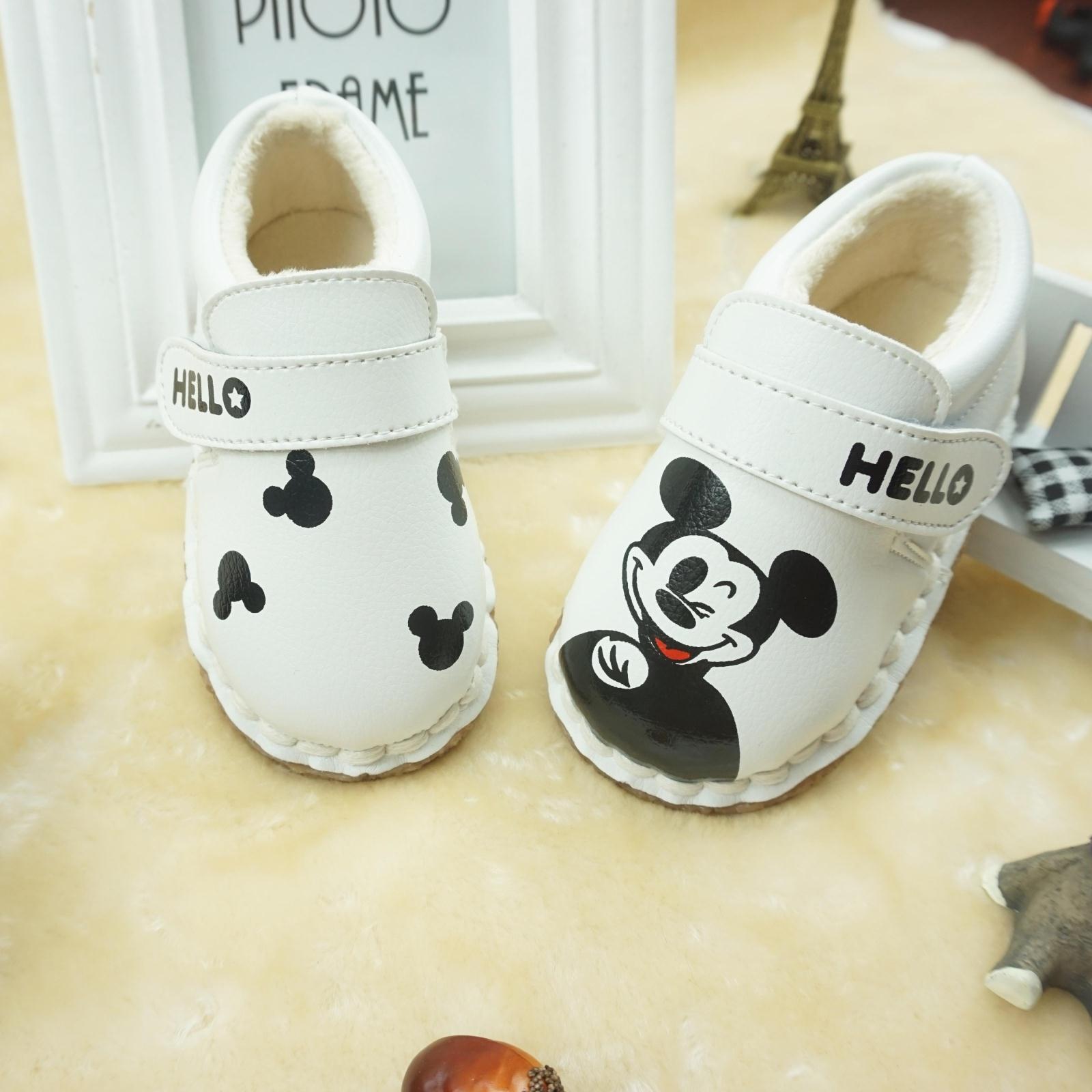 儿童宝宝鞋子男0-1-3岁婴儿软底学步鞋防滑加绒二棉一岁半女童鞋