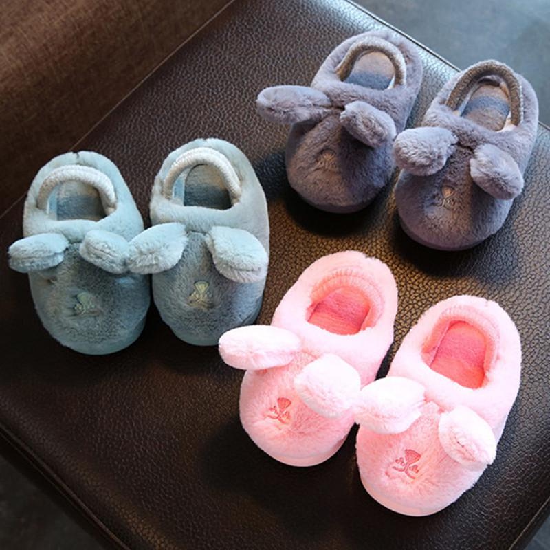儿童棉拖鞋男童女童秋冬季新款亲子棉拖鞋居家卡通保暖宝宝毛毛鞋