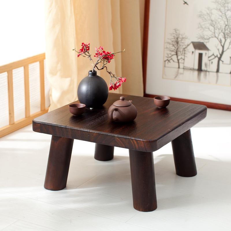 Teriyaki paulownia wood table table table window sill tatami bed Kang several small square table table table