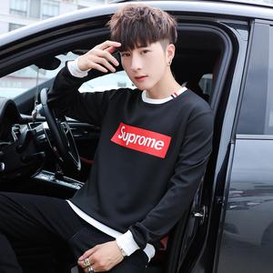 长袖卫衣男 2018秋季新款男士套头圆领青年韩版潮流上衣长袖男t恤