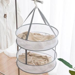晾衣网晒衣服篮平铺的网兜晾晒家用袜子神器