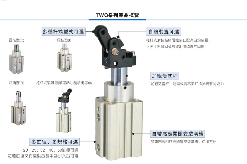 AIRTAC TWQS sperrschicht - zylinder TWQ32X10SBTWQ32X15SBTWQ32X20SB de gast