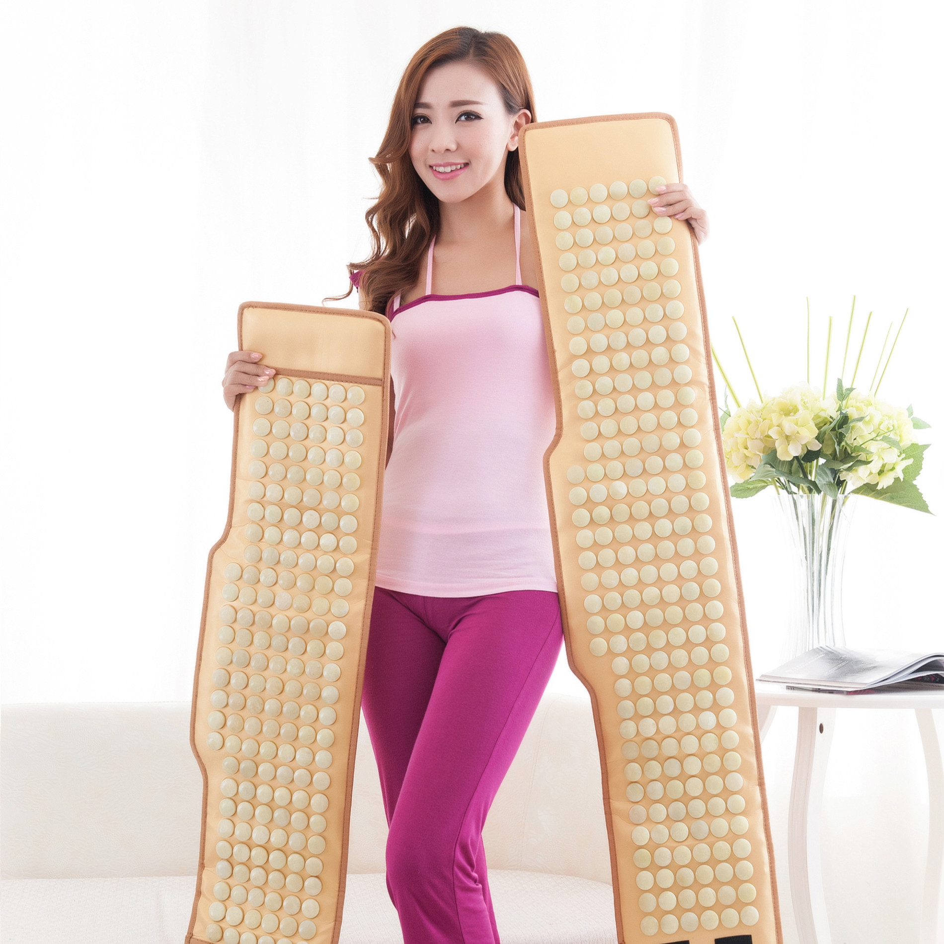 Electric heating health care massage therapy and lumbar physiotherapy infrared hyperthermia waist pain jade into the warm house