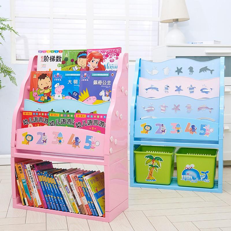 I Bambini di Plastica Libreria a semplice rotazione Libera di Piccole dimensioni dell'Ufficio di Plastica semplice Mini gli armadietti