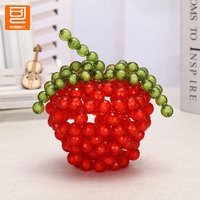 DIY Handmade Beaded Apple package weaving crafts Home Furnishing bedroom ornaments creative fashion gifts