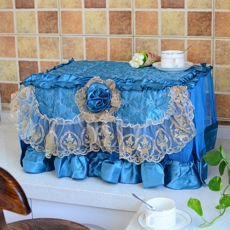 glanz микровълнова печка в кухнята с олио и вода от дантела. красотата на обложката - генерал худ обхваща кърпи.