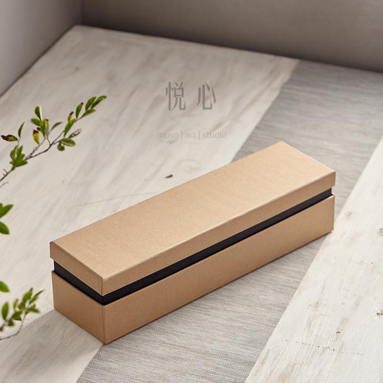 【悅心】景德鎮 茶道配件 牛皮紙包裝盒 茶杯四杯禮盒 簡約環保