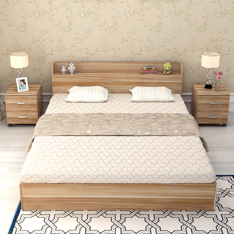 A new five meter bed tatami type bed modern minimalist modern 1.8 meters double master bedroom