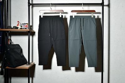 【一个鱼】舒适透气薄款弹力面料男式修身小脚设计休闲七分裤原单