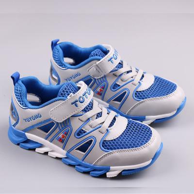 夏季男童单网运动鞋 透气减震休闲鞋中大童鞋网面鞋慢