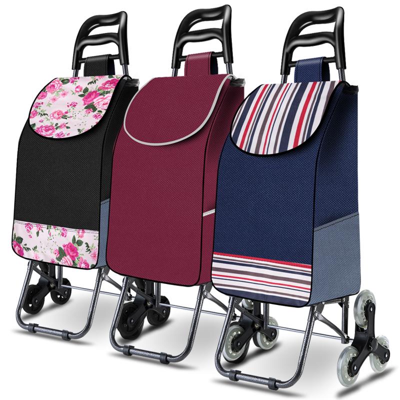 买菜车小拉车可爬楼梯拉杆车老人家用手推车轻便折叠帮主妇购物车