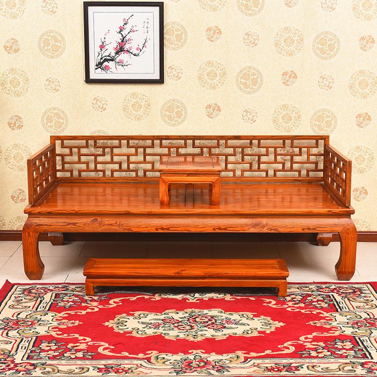 新中国の羅漢ベッド木造寝込んだアンティーク家具オフィスの茶屋リビング明清羅漢ソファの3点セット