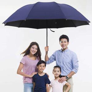 十骨加固加大雨伞超大号折叠雨伞男女商务伞三折伞黑胶防晒遮阳伞