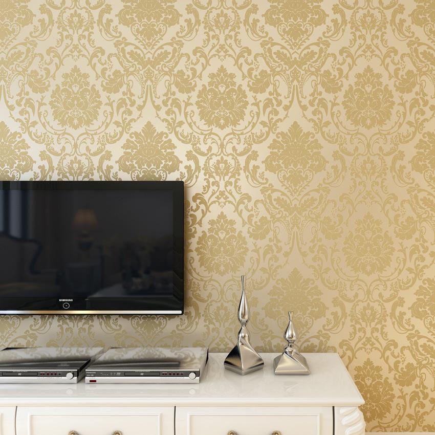 米白色無紡布墻紙3d電視背景墻有圖案浮雕無縫立體壁畫客廳墻紙