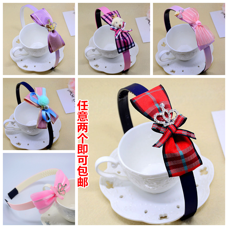 Children's Hair Bow Headband tooth antiskid Princess headband girl hairpin head ornaments of primary and middle school students