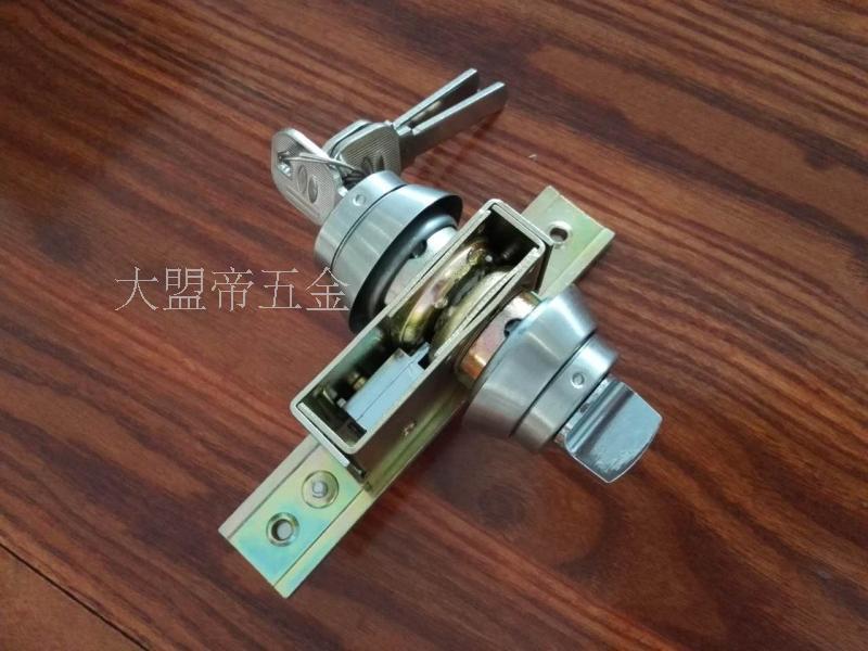 329 frame glass door gate Aluminum Alloy door stainless steel lock ground spring door lock with knob locks