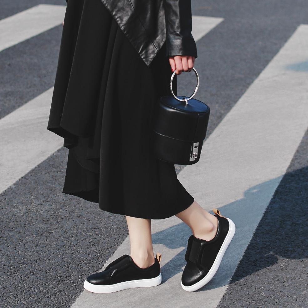 白色35小p良品鋪 歐美春季新款平底單鞋圓頭舒適百搭拼色女鞋子