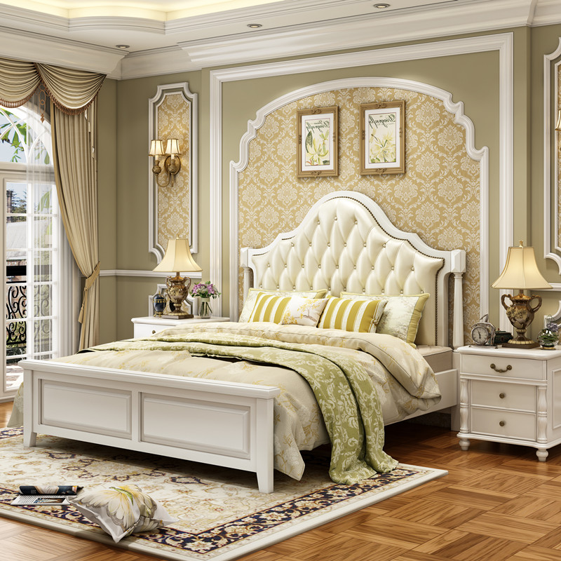 Thousand nest American solid wood bed, Nordic bed, double 1.5/1.8 meter bed, bedroom bed, modern simple solid wood bed