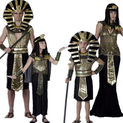 儿童cosplay服装 万圣节埃及公主王子服装 艳后埃及法老演出服装