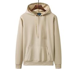 男士休闲连帽卫衣秋季新款青年男式韩版时尚纯色定制运动跑步外套价格比较