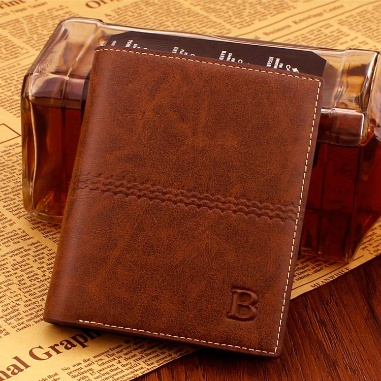 新款复古男士短款钱包韩版时尚多卡位竖款钱夹青年横款商务休闲潮