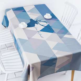 北欧现代简约ins餐桌布艺长方形茶几布台布书桌布圆桌布棉麻清新