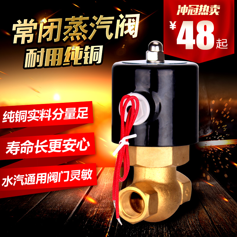 New copper steam valve, high temperature steam solenoid valve, steam pipe electric control valve 220