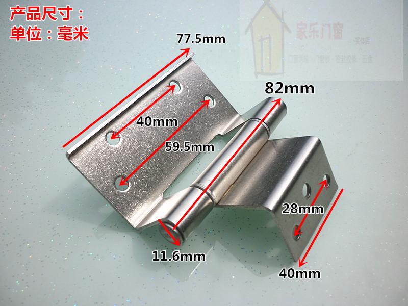 El tipo de aleación de aluminio de 50 bisagras de las puertas y ventanas de la puerta de bisagra oculta la instalación de bisagras bisagras de acero inoxidable especial