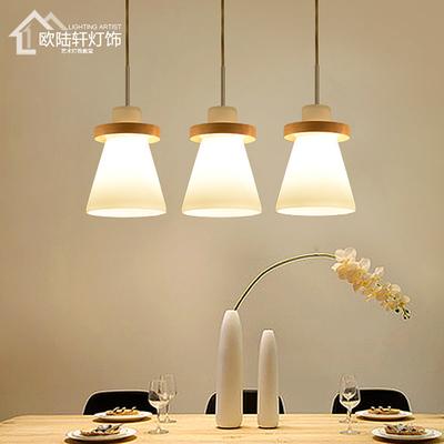 实木质小吊灯1头3头5头餐厅卧室楼梯间吧台北欧现代美式日式灯具