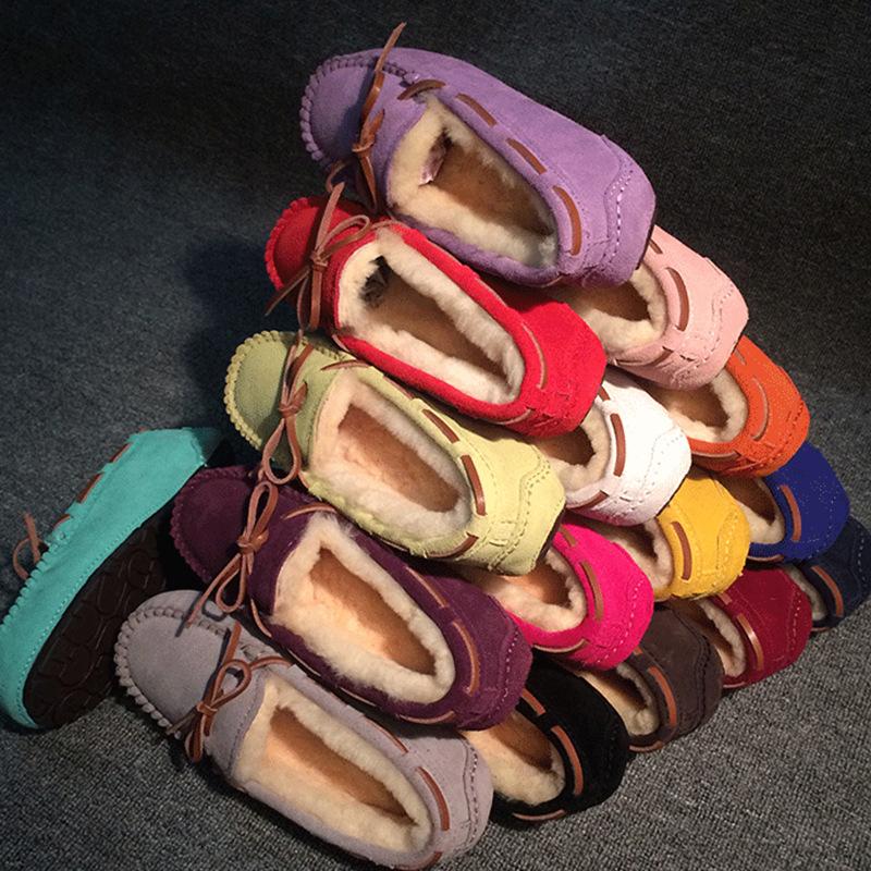 秋鼕羊毛豆豆鞋女加絨